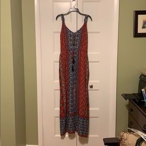 NWT Francesca's boho sleeveless pattern maxi dress